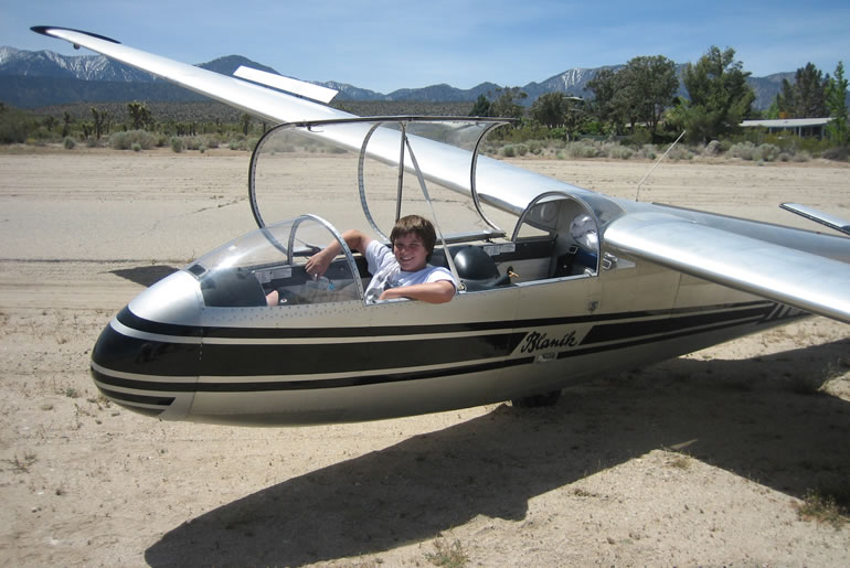 Drew in Glider