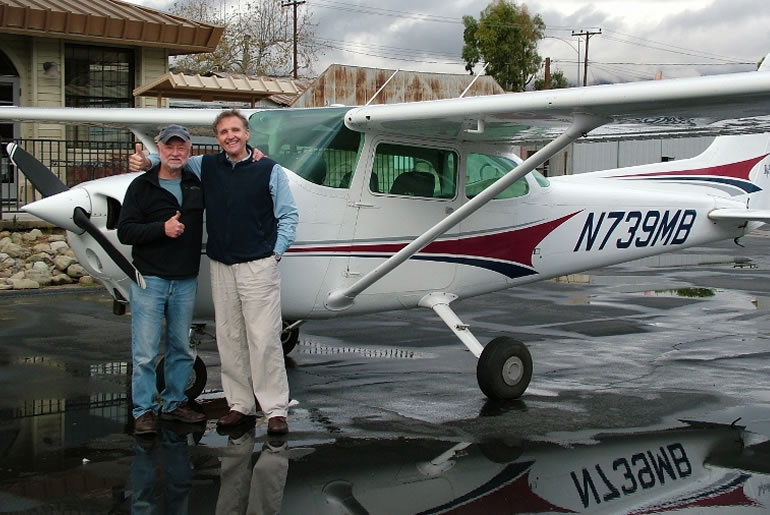 Michael and Student Cessna