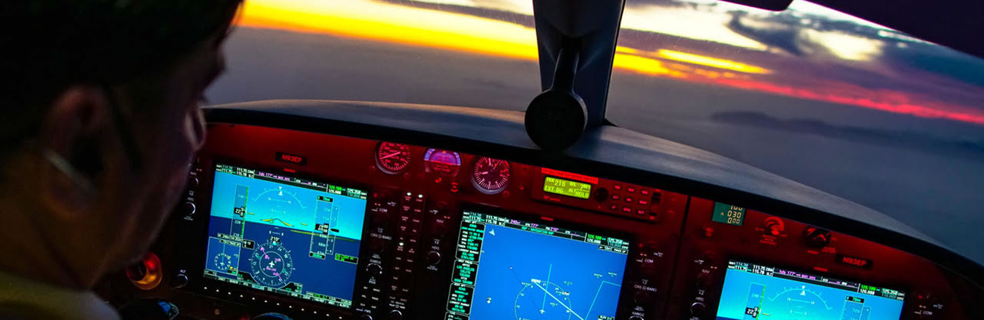 Instrument Panel  at Sunset