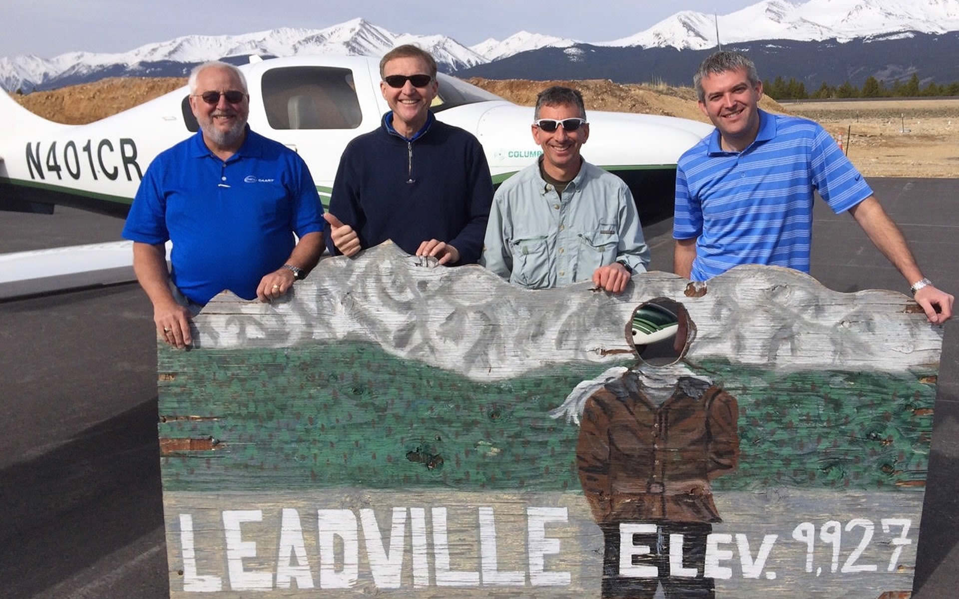 Group of Pilots at Leadville