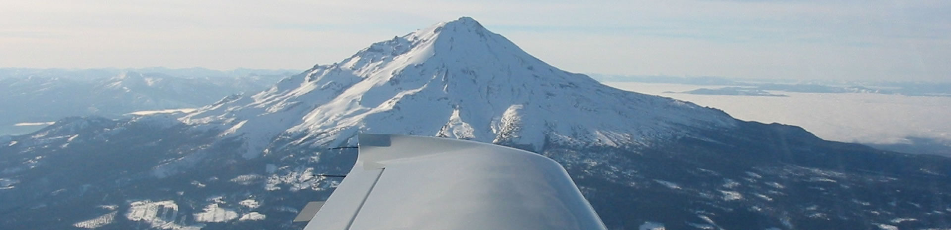 Wing Flying over Snow Mountain